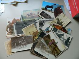 LOT 87 CPAS PETITES  CPSMS DE CHEVAUX . COURSES DE CHEVAUX . ( 87 HORSE POSTCARDS) - 5 - 99 Postales