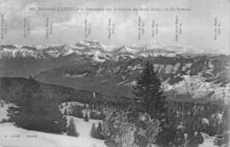 Annecy (74) - Environs - Panorama Sur La Chaîne Du Mont Blanc Vu Du Semnoz - Annecy