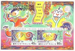 Australien/Christmas Island 1995 Mi.Nr. 405 /06 ,Year Of The Pig - Aufdruck Stamp & CoinFair -Postfrisch / MNH / (**) - Christmas Island