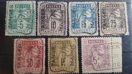 MAROC - Postes Locales - Tanger à Fez - Série N° 121/127 Oblitération Tanger - Locals & Carriers