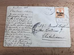 RRR OC 13 Sur CP Balen Bij Limburg ?? 26-2-1918 Vers Chatelineau Arrivée Le 2-3-1918 Censure De Verviers De Février 1918 - [OC1/25] Gen.reg.