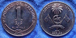 MALDIVE ISLANDS - 1 Rufiyaa AH1433 2012AD  KM# 73b - Edelweiss Coins - Maldives