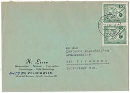 IW140     Germany 1966 - Cover Veldhausen,  Europa Mi.Nr. 483 - Brieven En Documenten