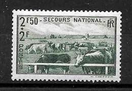 "France : "" Secours National "" N° 469 Neuf **  TB  (cote 6,oo €) - Ongebruikt"