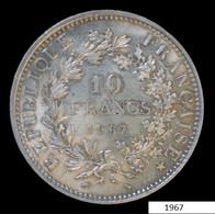 PIECE EN ARGENT DE 10 FRANCS FRANçAIS DE 1967 - K. 10 Francos