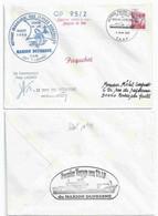 YT 2952 - Camargue - 1er Toucher Du Marion Dufresne à Alfred Faure - Crozet - 11/08/1995 - Cartas
