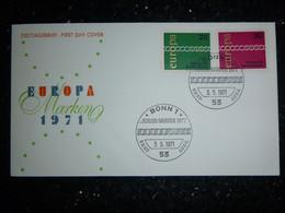 EUROPA -CEPT 1971 EUROPA CEPT DEUTSCHLAND FDC - 1971