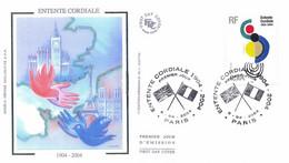Enveloppe 1er Jour Entente Cordiale, 2004 (YT 3657) - 2000-2009