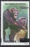 Tanzania 2019 Chimpanzee Ape Monkey Overprint 1600/- On 400/- Michel F5314 Mint - Chimpanzees
