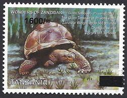 Tanzania 2019 Zanzibar Giant Tortoise Overprint 1600/- On 400/- Mint - Tartarughe