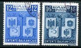ROMANIA 1940 Balkan Entente Used  Michel 615-16 - Usado