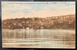 PULLY: 1924 - TEINTURIE LYONNAISE ET CHAMBLANDES DESSUS VUE DU LAC - VD Vaud