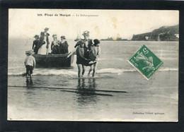 CPA - Plage De MORGAT - Le Débarquement, Animé - Morgat