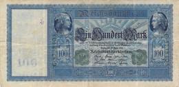 100 Mark 1910 VG/G (IV) KN-NR G-5738403 Siegel Grün - 100 Mark
