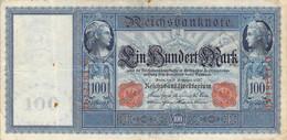100 Mark 1910 VG/G (IV) KN-NR D-1238124 Siegel Rot - 100 Mark