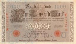 1000 Mark 1910 AU/EF (II) KN-NR 7175781 N Siegel Rot - 1000 Mark