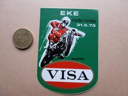 STICKER  EKE  MOTO CROSS  31-5-73  SUZUKI   VISA - Stickers