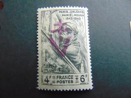 Timbre De La Libération De Montluel Avec Surcharge Violette Sur N°. 618 - Liberación