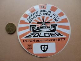 STICKER  9e  GRAND PRIX DE ZOLDER  23-24 APRIL 1977  BP - Stickers