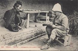 CPA Indochine Viet Nam Tonkin Yen Thê Interrogatoire D'un Pirate à Gho Go Dieulefils 3307 Neuve - Vietnam