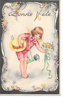 Illustrator - Hannes Petersen (not Signed) - Child With Bouquet Of Flowers, Enfant Avec Bouquet De Fleurs, Chapeau, Hut, - Non Classificati