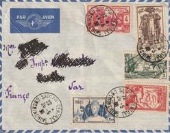 Lettre Par Avion SAIGON CENTRAL 20 05 1938 Timbres Expo Universelle 1937 Y&T 194 195 196 197 198 Pour Toulon - Airmail