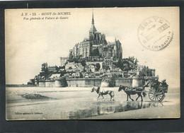 CPA - MONT SAINT MICHEL - Vue Générale Et Voiture De Genets, Animé - Le Mont Saint Michel