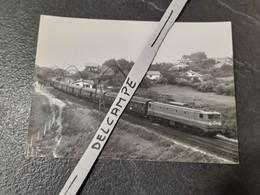 SNCF : Photo Originale Anonyme 12,5 X 17,5 : Locomotive électrique CC 7100 Dans Les Landes - Treinen