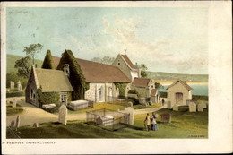 CPA Saint Brélade Jersey Kanalinseln, Church, Graves - Other