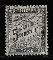 TAXE N° 14 TYPE DUVAL 5 C. NOIR OBLITERE COTE 35 € - 1859-1955 Used