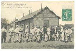 Cpa Saint Aubin Du Cormier - Au Camp De La Lande D'Ouée - L'arrivée Du Vaguemestre  .. ( S.3960 ) - Otros Municipios