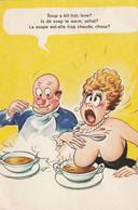 Soup A Bit Hot, Love?................... Bamforth Post Card - Humor