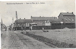 Berchem-lez-Audenarde NA4: Gare Et Rue De La Station 1910 - Kluisbergen