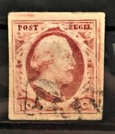 NETHERLANDS 1852 - Canceled - Sc# 2 - 10c - Used Stamps