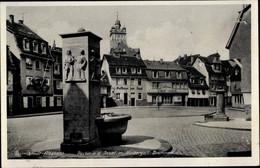 CPA Darmstadt In Hessen, Niebergall Brunnen, Gasthof Zur Insel - Altri