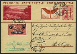 ZULEITUNGSPOST 133 BRIEF, Schweiz: 1931, 3. Südamerikafahrt, Prachtkarte - Zeppelin