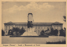Emilia Romagna - Parma - Soragna - Scuole E Monumento Ai Caduti  - F. Grande - Viagg - Bella Anteguerra - Other Cities