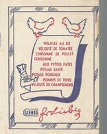 GG // French Old Blotting / Blotter // à Saisir Achat Immédiat @ Buvard Ancien Potage LIEBIG Poule Poulet Velouté Soupe - L