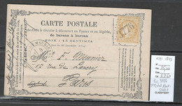 France - Carte Postale Précurseur De MAI 1873 - GC3776 - St Michel De Maurienne - Savoie - 1849-1876: Periodo Clásico
