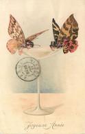 M.M VIENNE M.MUNK N°552  Champagne , Papillons  Humanisés - Vienne