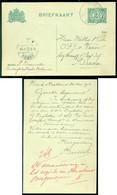 Nederland 1912 Briefkaart Van Hoek Van Holland Naar Breda Geuzendam  80 A I - Interi Postali