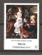 NEVIS - 2012 CARAVAGGIO Riposo Durante La Fuga In Egitto (Galleria Doria Pamphilj, Roma) Nuovo** MNH - Religious