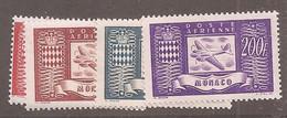 Monaco - Y&T PA N°15/18** - Avion Et Armoirie - Poste Aérienne