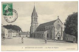 CPA 52 BOURBONNE LES BAINS La Place De L' Eglise - Bourbonne Les Bains