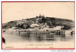 CPA 38 VIENNE Le Quai Pajot Le Fort De La Batie ( Dos Ligné - Vienne