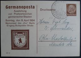 DR Privatganzsache PP 122 C3-02 Mit Sonderstempel, Germanoposta 1934 (2062) - Postwaardestukken
