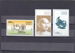 Stamps SUDAN 2019 INDIA MAHATMA GANDHI MNH SET ERROR VARIETY RARE  #7 */* - Soudan (1954-...)