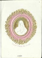 Ancienne Image 1890 Doré  Sacré Coeur De Jésus En Relief  C34/1 - Devotieprenten
