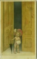 S.B.P. SIGNED 1910s POSTCARD - GIRL WITH BIG HAT / UMBRELLA  - N. 998 (BG1008) - Andere Zeichner