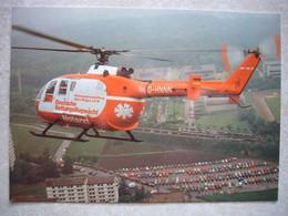 Avion / Airplane / DEUTSCHE RETTUNGSFLUGWACHT / Helicopter Bölkow Bo 105 - Elicotteri
